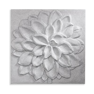 Arthouse 3D Glitter Full Graphic Art on Canvas in Silver