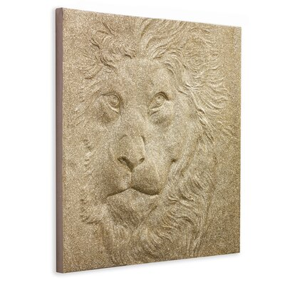 Arthouse 3D Glitter Lion Graphic Art on Canvas