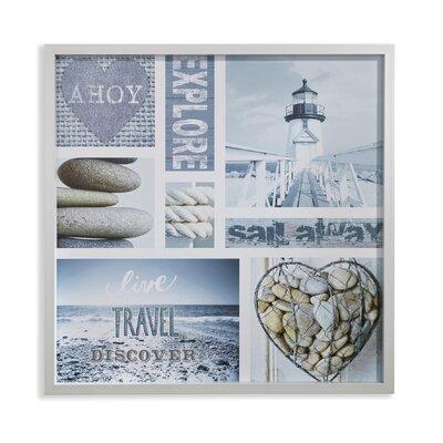 Arthouse Denim Nautical Deep Glass Framed Graphic Art