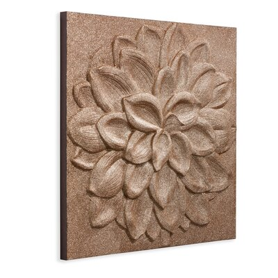 Arthouse 3D Full Flower Graphic Art on Canvas in Brown