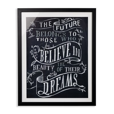 Arthouse Believe You Can Framed Typography