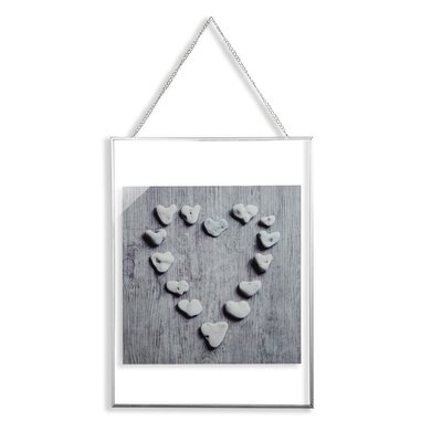 Arthouse Distressed Pebble Hearts Glass Framed Photographic Print