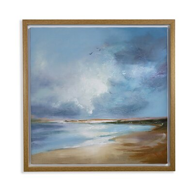 Arthouse Seascape Capped Framed Art Print Wrapped on Canvas