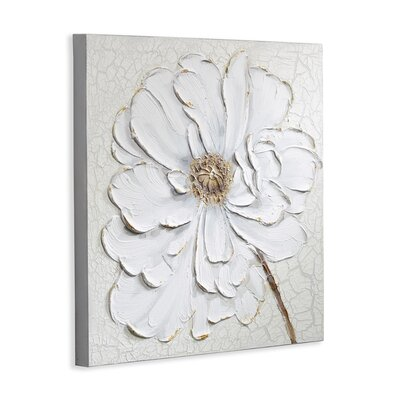 Arthouse Plaster Floral Painting Print on Canvas