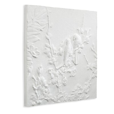 Arthouse 3D Glitter Blossom and Birds Graphic Art on Canvas