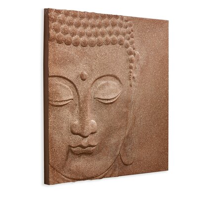 Arthouse 3D Glitter Peace Buddha Graphic Art on Canvas