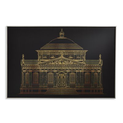 Arthouse Architectural Capped Graphic Art Wrapped on Canvas