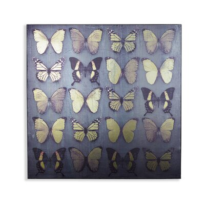 Arthouse Vinyl Superfoil Butterflies Graphic Art Wrapped on Canvas