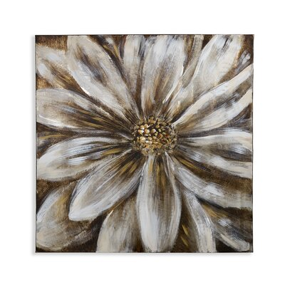 Arthouse Flower Painting Print Wrapped on Canvas