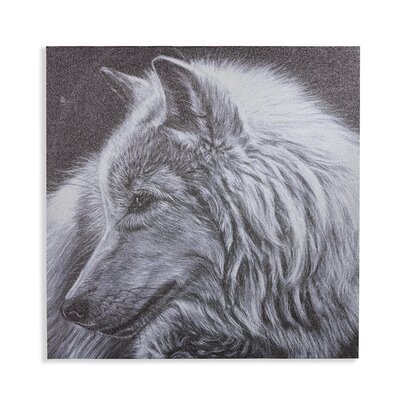 Arthouse Dusted Glitter Wolf Graphic Art Wrapped on Canvas