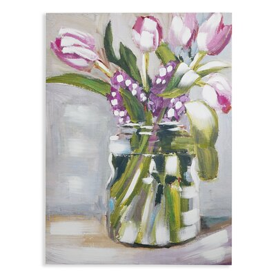 Arthouse Tulips Art Print Wrapped on Canvas