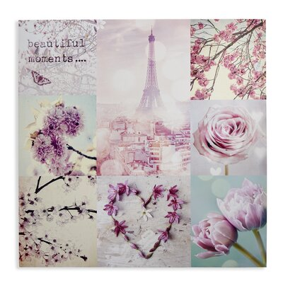 Arthouse Paris in Spring Graphic Art Wrapped on Canvas