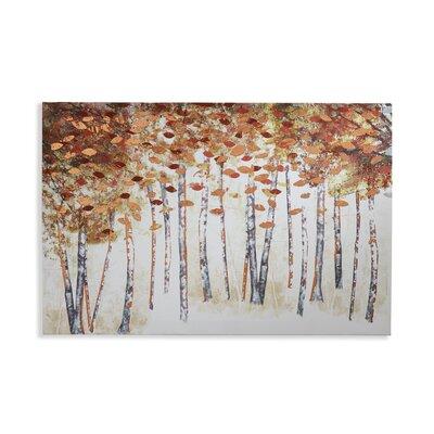 Arthouse Birch Foil Art Print Wrapped on Canvas