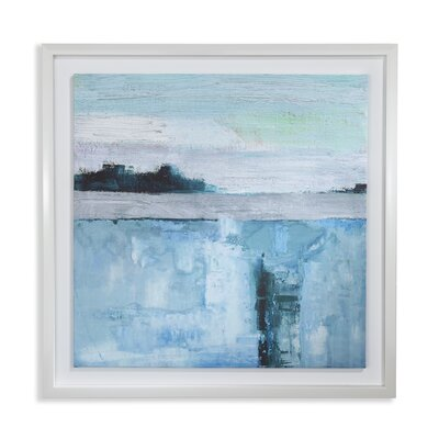 Arthouse Abstract Seascape Capped Framed Art Print Wrapped on Canvas