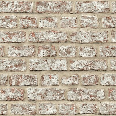 Arthouse Rustic Brick 10.05m L x 53cm W Roll Wallpaper