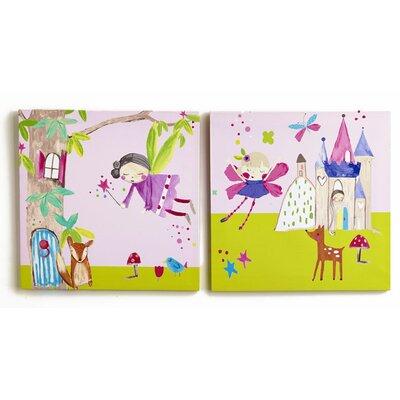 Arthouse Imagine Fun Enchanted Fairies Printed Canvas Art Set (Set of 2)