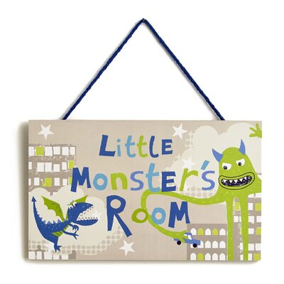 Arthouse Imagine Fun Monster Wooden Hanging Art