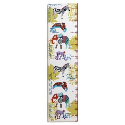 Arthouse Imagine Fun Jungle Animals Printed Canvas Growth Chart