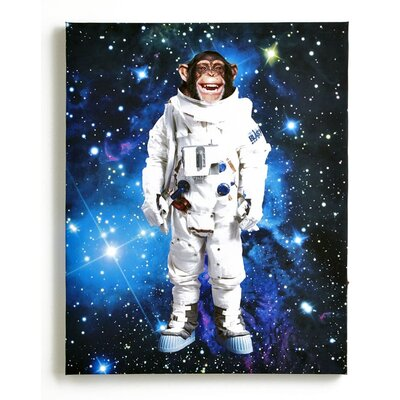 Arthouse Imagine Fun Space Monkey Printed Canvas Art