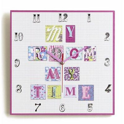 Arthouse Imagine Fun Patchwork Hearts Clock