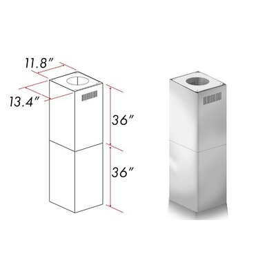 "Range Hood Chimney Extension Height: 71.5"""