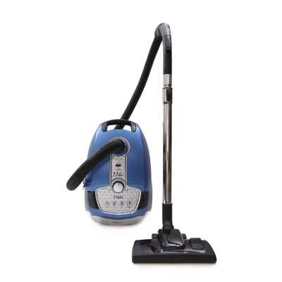 Tritan Canister Vacuum HEPA Sealed Hard Floor Vacuum Color: Blue