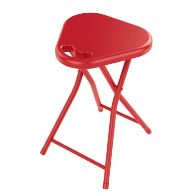 Folding Stool with Handle Finish: True Red