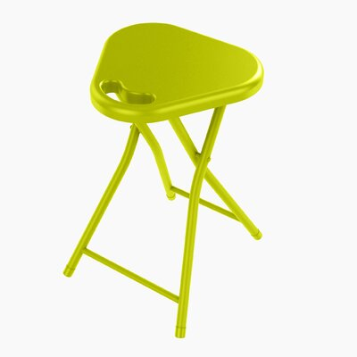 Folding Stool with Handle Finish: Lime Green