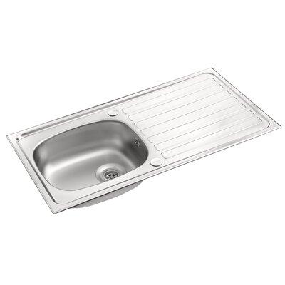 Pyramis Contract 94cm x 49cm Rectangular Kitchen Sink