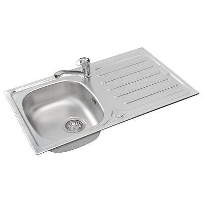 Pyramis Vera 85cm x 50cm Rectangular Kitchen Sink