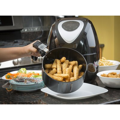 Modernhome 3.2L Digital Touch-Activated Air Fryer with Black and Stainless Steel Accents