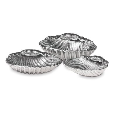 Culinary Concepts Seashore 3 Piece Shell Candle Holder