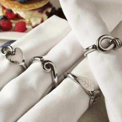 Culinary Concepts 4 Piece Sasha Napkin Ring Set