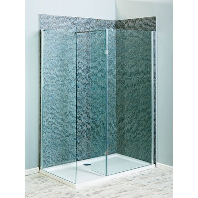 Cassellie 183.5cm x 30cm Hinged Shower Door