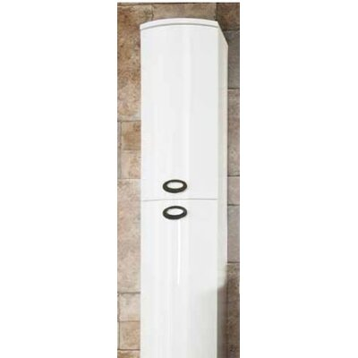 Cassellie 36 x 141.8cm  Wall Mounted Tall Bathroom Cabinet