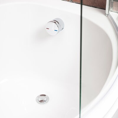 Cassellie 7cm Push Lock Tub Drain