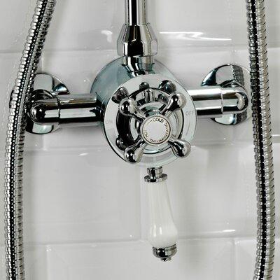 Cassellie Traditional Single Exposed Thermostatic Shower Valve
