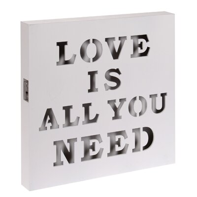 Inart Love Is Wall Décor