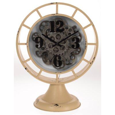 Inart Metal Table Clock
