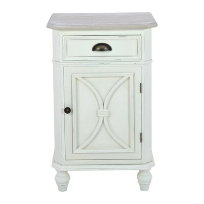 Inart 1 Drawer Bedside Table