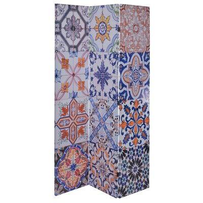 Inart 180 cm x 120 cm Canvas Printed 3 Panel Room Divider