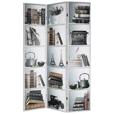 Inart 180 cm x 120 cm Photographic Print 3 Panel Room Divider