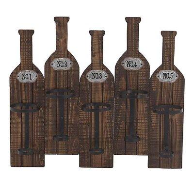 Inart 5 Bottle Wall Mount Wine Rack