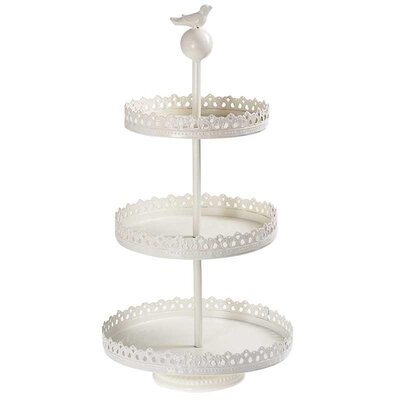 Inart Metal 3 Tier Cake Stand