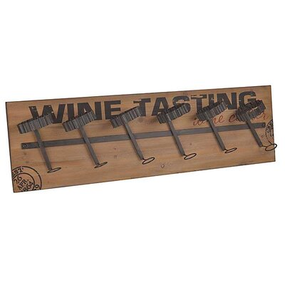 Inart 6 Bottle Wall Mount Wine Rack