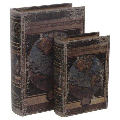 Inart 2 Piece Leather and PU Box Set