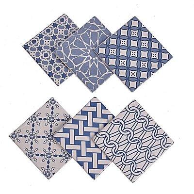 Inart 6 Piece Ceramic Coaster Set