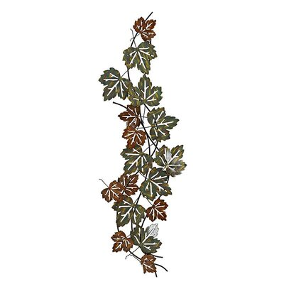 Inart Metal Leaves Wall Decor