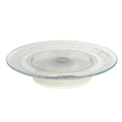 Inart Metal and Glass Cake Stand