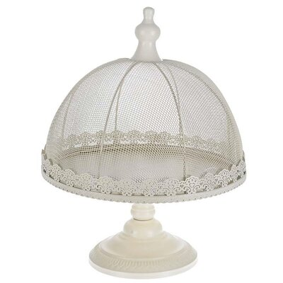 Inart Metal Cake Stand with Cover